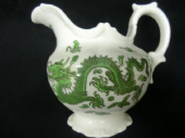 SOLD - COALPORT green dragon milk jug / creamer
